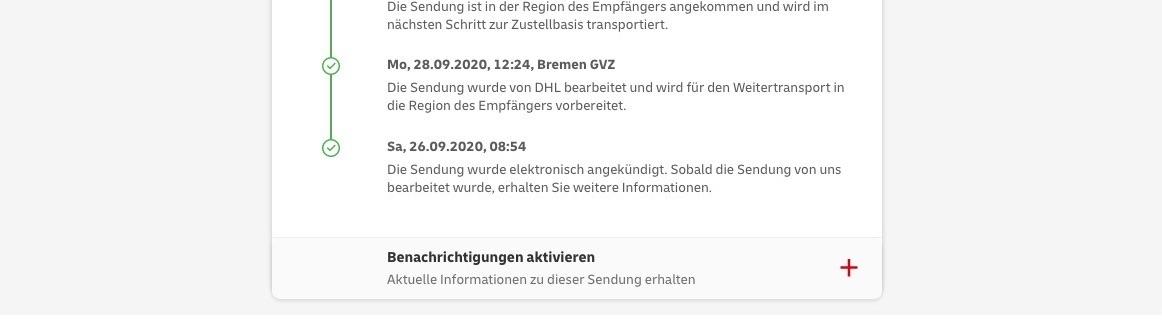 Tracking DHL Bremen GVZ