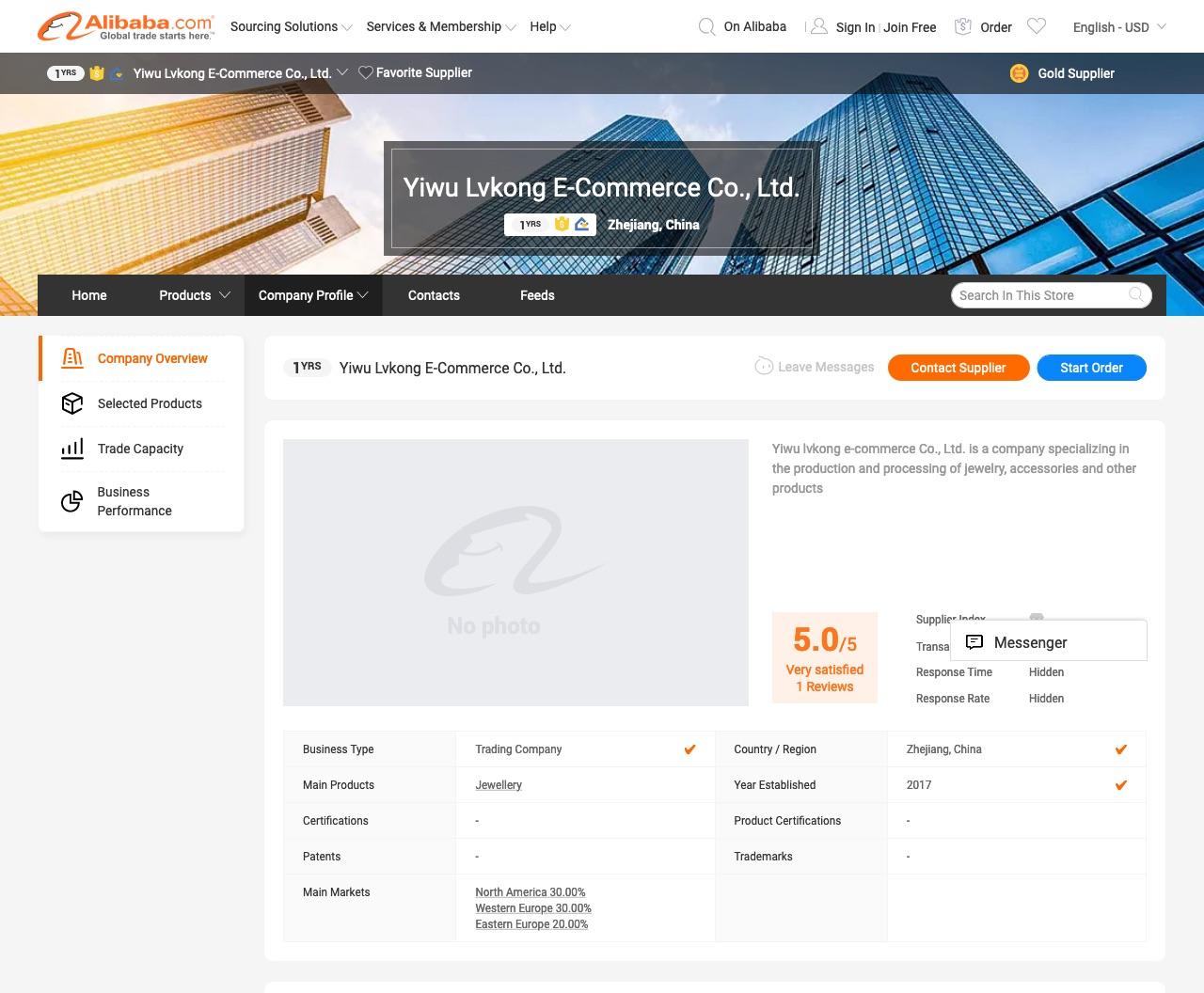 Yiwu Lvkong E-commerce Co., Ltd. auf Alibaba.com